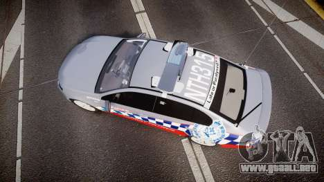 Ford Falcon FG XR6 Turbo Highway Patrol [ELS] para GTA 4 visión correcta