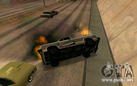 Burning car mod from GTA 4 para GTA San Andreas quinta pantalla