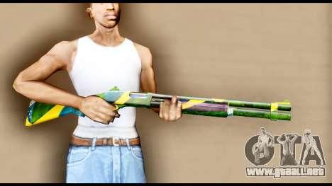 Brasileiro Shotgun para GTA San Andreas tercera pantalla