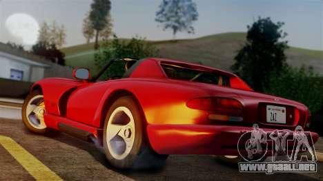 Dodge Viper RT 10 1992 para GTA San Andreas left