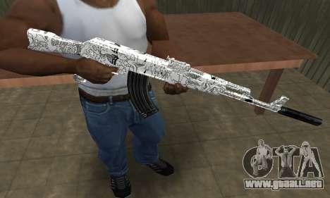 Camper AK-47 para GTA San Andreas