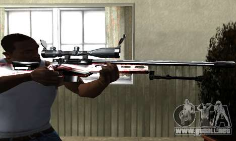 Redl Sniper Rifle para GTA San Andreas segunda pantalla