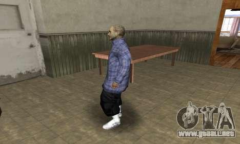 Rifa Skin Second para GTA San Andreas segunda pantalla