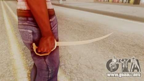 Red Dead Redemption Katana Crome Sword para GTA San Andreas