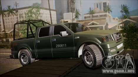 Ford F-150 Military MEX para GTA San Andreas left