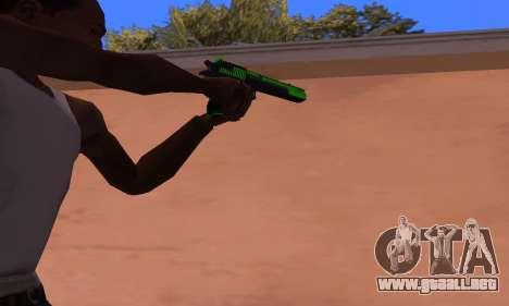 Deagle Green Style para GTA San Andreas segunda pantalla