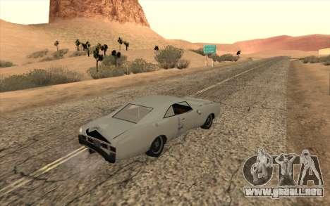 Imponte Dukes SA Style para GTA San Andreas vista hacia atrás
