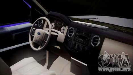 Dodge Dakota Iraqi Police para la visión correcta GTA San Andreas