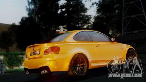 BMW 1M E82 v2 para la vista superior GTA San Andreas