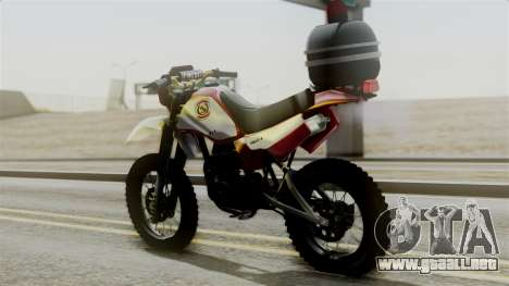 Yamaha DT 180 BM-RS para GTA San Andreas left