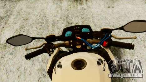 Honda CB650F Tricolor para la visión correcta GTA San Andreas