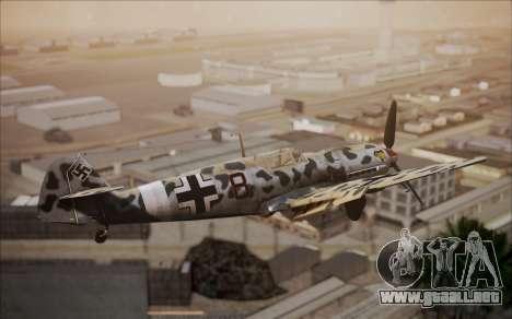 Messerschmitt BF-109 E3 para GTA San Andreas vista posterior izquierda