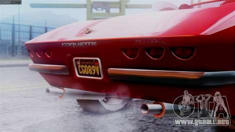 GTA 5 Invetero Coquette BlackFin IVF para GTA San Andreas vista posterior izquierda