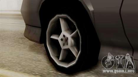 Buffalo New Edition para GTA San Andreas vista posterior izquierda