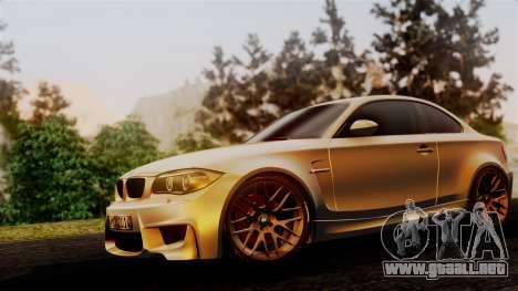 BMW 1M E82 v2 para GTA San Andreas vista hacia atrás