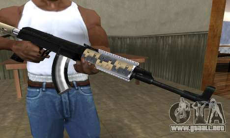 Cool Black AK-47 para GTA San Andreas