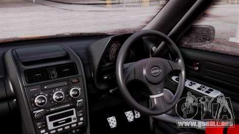 Toyota Altezza para GTA San Andreas vista hacia atrás