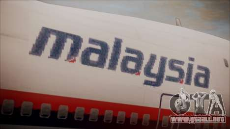 Boeing 747-200 Malaysia Airlines para GTA San Andreas vista hacia atrás
