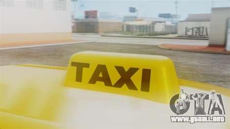 Stratum Taxi para la visión correcta GTA San Andreas