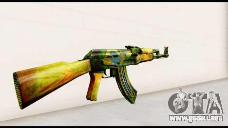Brasileiro AK-47 para GTA San Andreas segunda pantalla