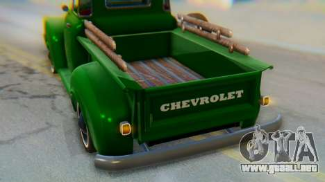 Chevrolet 3100 1951 Work para la vista superior GTA San Andreas