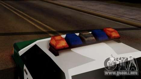 VCPD Cruiser para GTA San Andreas vista hacia atrás