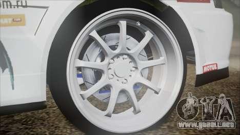 Nissan Skyline ER34 GT-Shop para GTA San Andreas vista posterior izquierda