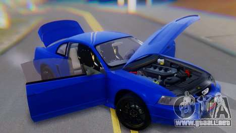 Ford Mustang 1999 Clean para vista inferior GTA San Andreas
