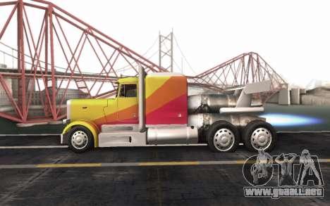 ShockWave Jet Truck para la visión correcta GTA San Andreas