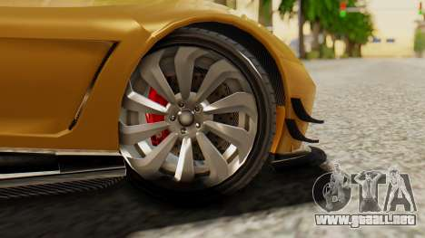 Pegassi Osyra Extra 2 para GTA San Andreas vista posterior izquierda