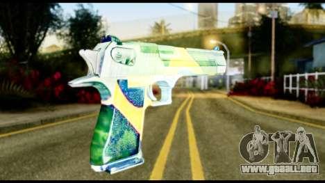 Brasileiro Desert Eagle para GTA San Andreas segunda pantalla