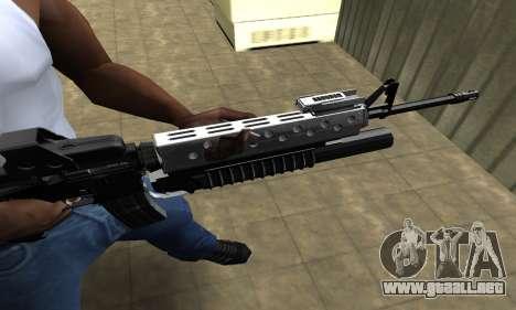Modern Black M4 para GTA San Andreas segunda pantalla