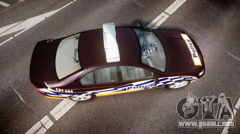 Ford Falcon BA XR8 Highway Patrol [ELS] para GTA 4 visión correcta
