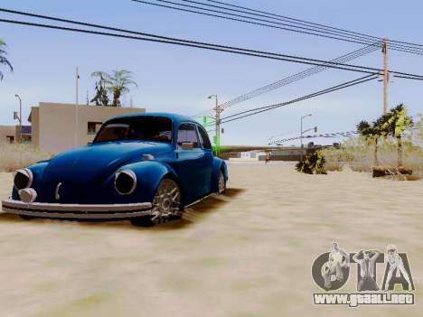 Volkswagen Beetle 1980 Stanced v1 para GTA San Andreas vista hacia atrás