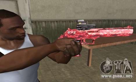 Red Chest Deagle para GTA San Andreas
