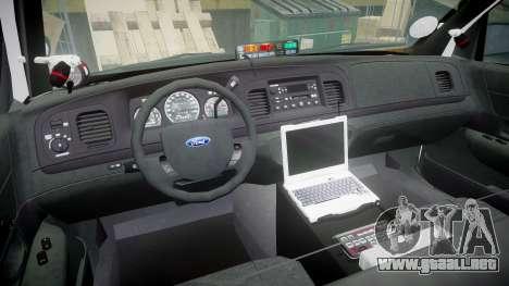 Ford Crown Victoria 2011 LAPD [ELS] rims1 para GTA 4 vista hacia atrás