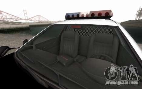 GTA 5 Stanier Police para visión interna GTA San Andreas