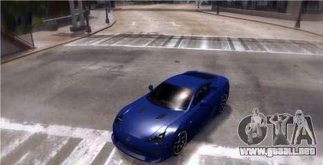 Lexus LF-A 2010 [EPM] para GTA 4 Vista posterior izquierda