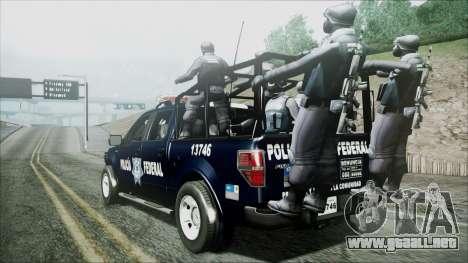 Ford Pickup Policia Federal para GTA San Andreas left