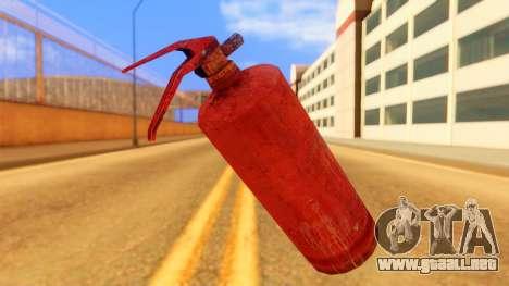 Atmosphere Fire Extinguisher para GTA San Andreas segunda pantalla