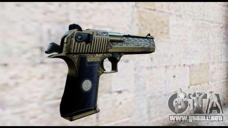 Golden Engraved Desert Eagle para GTA San Andreas segunda pantalla