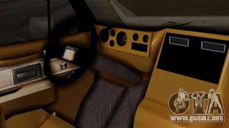 Chevrolet Chevy Van G20 Paraguay Police para la visión correcta GTA San Andreas