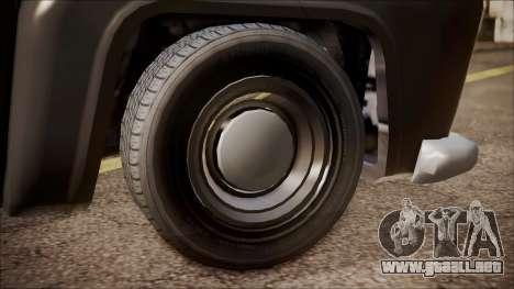 GTA 5 Vapid Slamvan Pickup para GTA San Andreas vista posterior izquierda
