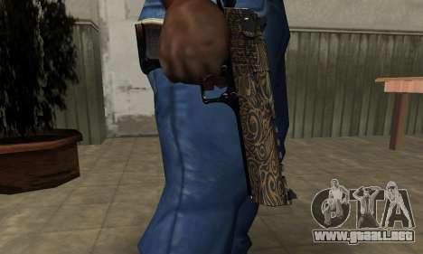 Brown Jungles Deagle para GTA San Andreas segunda pantalla