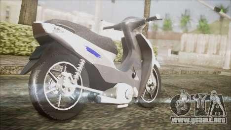 Honda Biz 125 para la visión correcta GTA San Andreas