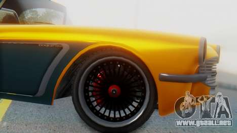 Invetero Coquette BlackFin Not Convertible para GTA San Andreas vista posterior izquierda