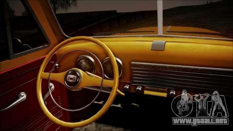 Chevrolet 3100 Truck 1951 para GTA San Andreas vista hacia atrás