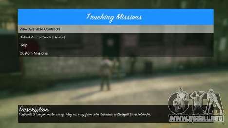 GTA 5 Trucking Missions 1.5 sexta captura de pantalla
