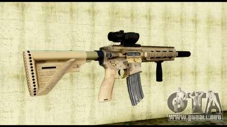 HK416 SOPMOD para GTA San Andreas segunda pantalla