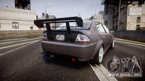 Declasse Premier RT para GTA 4 Vista posterior izquierda